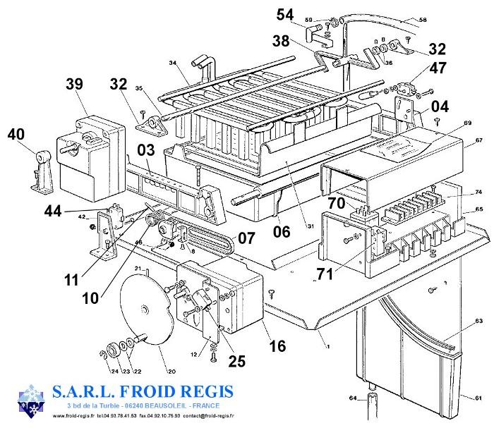 piece detachee machine a glacon table de cuisine. Black Bedroom Furniture Sets. Home Design Ideas