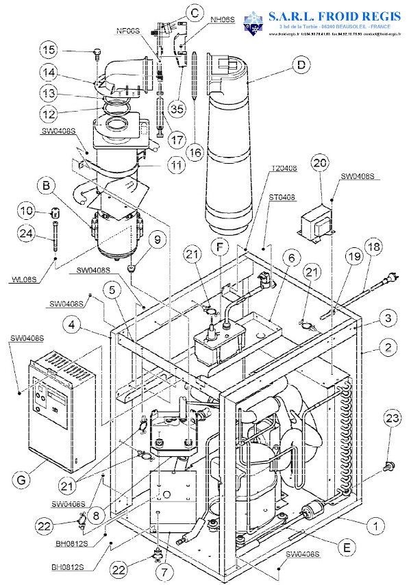 spare parts for flake ice hoshizaki fm481